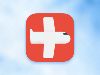 Fly Healthy App Icon app icon logo airplane jet fly healthy ios 7 fly healthy