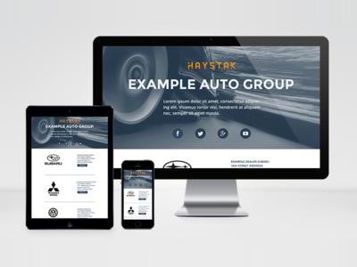 Auto Group Splash Page automotive responsive cars minimal montserrat splash page car dealer