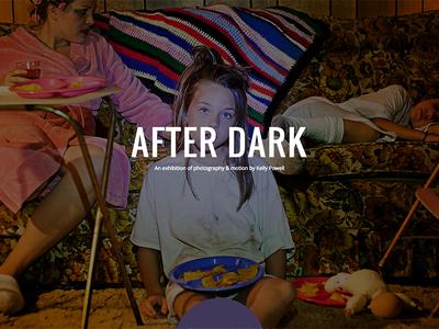 After Dark Exhibition website ui design ux design full screen one page bootstrap after dark
