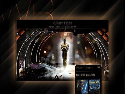 William Ross Website website webdesign webdevelopment logo branding rock color music oscars hollywood ui ux
