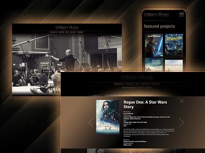 William Ross Website ui uxui ux hollywood oscars music color rock branding logo webdevelopment webdesign website