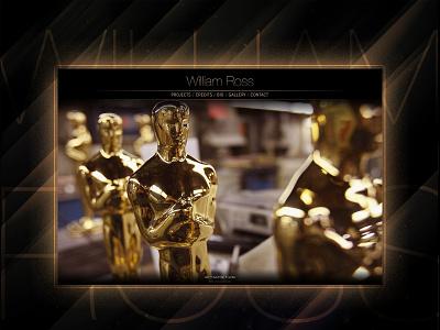 William Ross Website jazz ui uxui ux oscars music color hollywood rock branding logo webdevelopment website webdesign