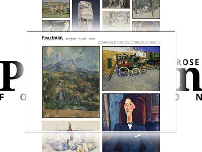 Pearlman Collection - Showcasing Van Gogh & Cézanne uidesign uxdesign webdev userinterface userexperience webdevelopment websitedesign webdesign website design color ux ui