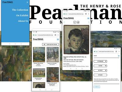 Pearlman Collection - Showcasing Van Gogh & Cézanne userexperience userinterfaces webdevelopment webdesign uiux design website color ux ui