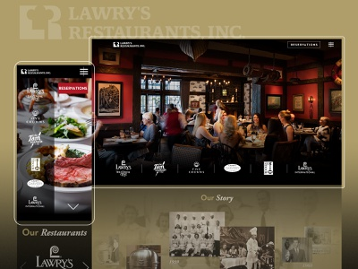 Lawry's as an Elevated Digital Experience restaurant branding webdevelopment webdesign website color ui ux design