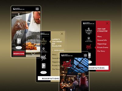 Lawry's as an Elevated Digital Experience responsive design responsive mobile restaurant branding webdevelopment webdesign design website color ux ui