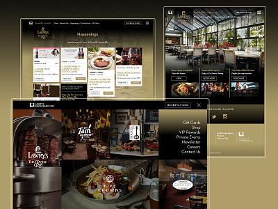 Lawry's as an Elevated Digital Experience events fancy card losangeles food restaurant branding webdevelopment webdesign design website color ux ui