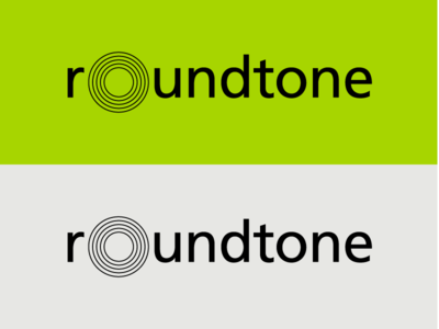 Roundtone Logo record music circle green branding logo