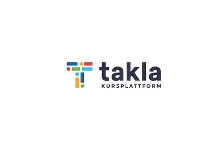 Takla classes education diversity simple lettermark geometric clever logo minimal
