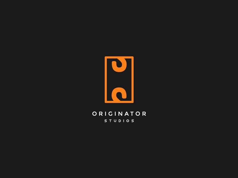 A-Z / O for Originator letter s letter o studio s o geometric logo bold clever minimal simple