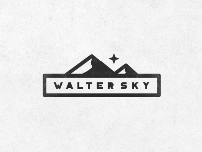 WalterSky1 outdoor moutains sky star simple minimal clean hipster badge mountain