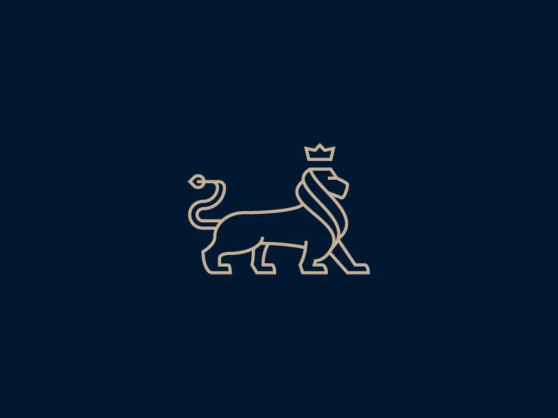 Lion line animal line logo line art lion logo line insurance financy king elegant minimal lion
