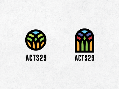 Church planting organization planting tree church window glass stained art line line-art logo simple minimal