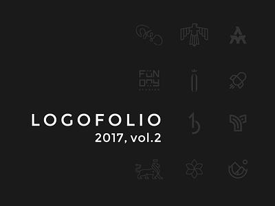 Logofolio 2017, vol. 2 portfolio geometric logofolio clever minimalistic minimal logo