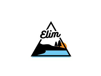 Elim resort pines camp outdoor lake bold logo simple minimal