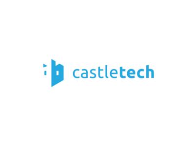 CastleTech fortress forge castle geometric tech bold clever negative-space negative space minimal