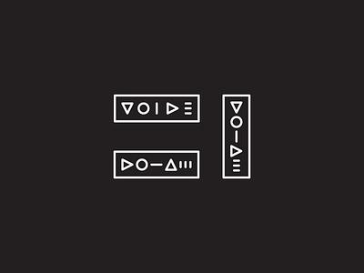 Voide1 wordmark minimalistic simple logo minimal geometric