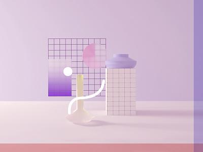 / 3D Lab / octane grid pastel c4d 3d