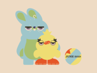 Toy Story 4 - Bunny & Ducky