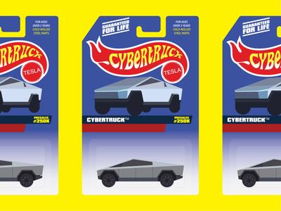 "Cybertruck ""Hot Wheels"" Packaging"