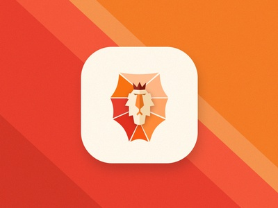 Lion Icon sign logo king orange flat lionking ios appicon lion