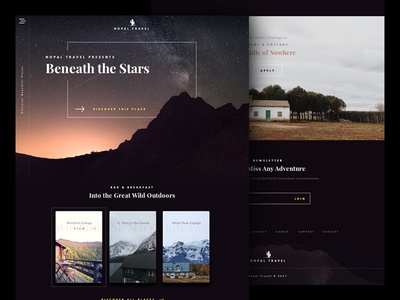 Travel Website dark ui web adventure travel outdoors