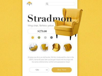 Chair Shoot furniture app yellow logo ikea chair shop