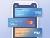 Credit Cards UI graphic ios creditcards ui app