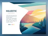 Sunset Card ipadpro procreate card colors design illustration
