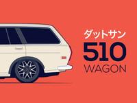 Datsun 510 Wagon Sunset