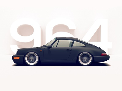 Porsche 964 wheels vehicle tuning rims racing porsche illustration car automotive auto