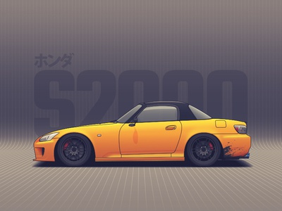 Honda S2000 drift wheels vehicle tuning rims racing nissan illustration car automotive auto