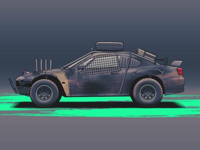 Mod Max wheels vehicle tuning rims racing nissan illustration car automotive auto