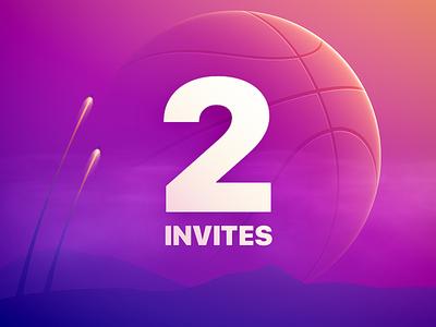 2 Dribbble Invites dribbble invitation invite