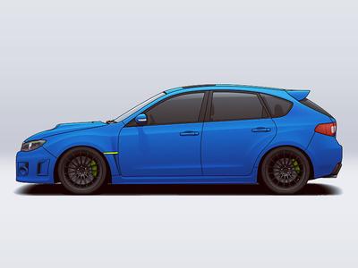 Subaru Impreza wheels vehicle tuning rims racing subaru illustration car automotive auto