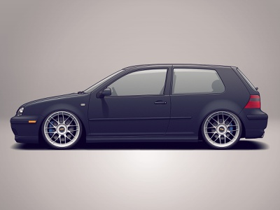 VW Golf Mk4 wheels vehicle tuning rims racing golf volkswagen vw illustration design car automotive auto