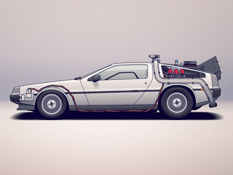 DeLorean DMC-12 movie film vaporwave retro eighties 80s dmc tuning automotive design future delorean car automotive auto