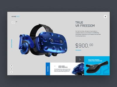 HTC vive pro. Product page