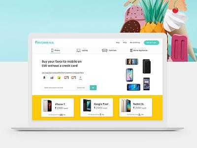 Minimal Website UI brand minimal upload mobile color clean finance yellow design