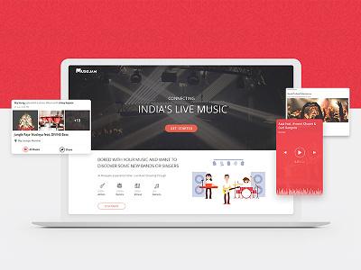 Live Music Website design animation graphics event clean website minimal new live music
