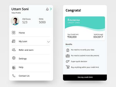 Fintech app buy now pay later mobile minimal card credit finance fintech design bank