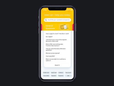 FAQ on Iphone X minimal clean mobile apple ios ui help frequently asked questions faq iphonex