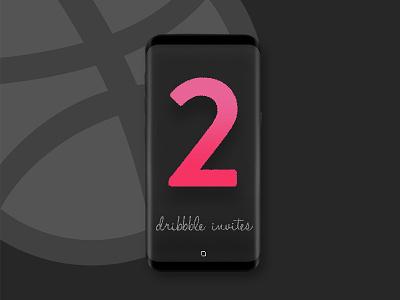 2x Dribbble invites member welcome new design project portfolio invite dribbble