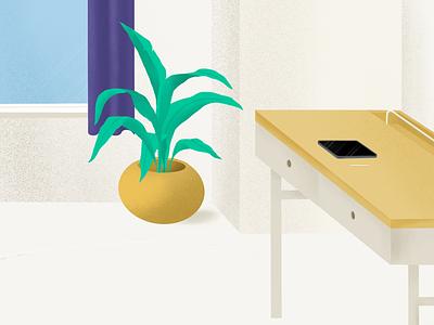 Minimal Workspace illustration digital design ipad clean plant workspace minimal