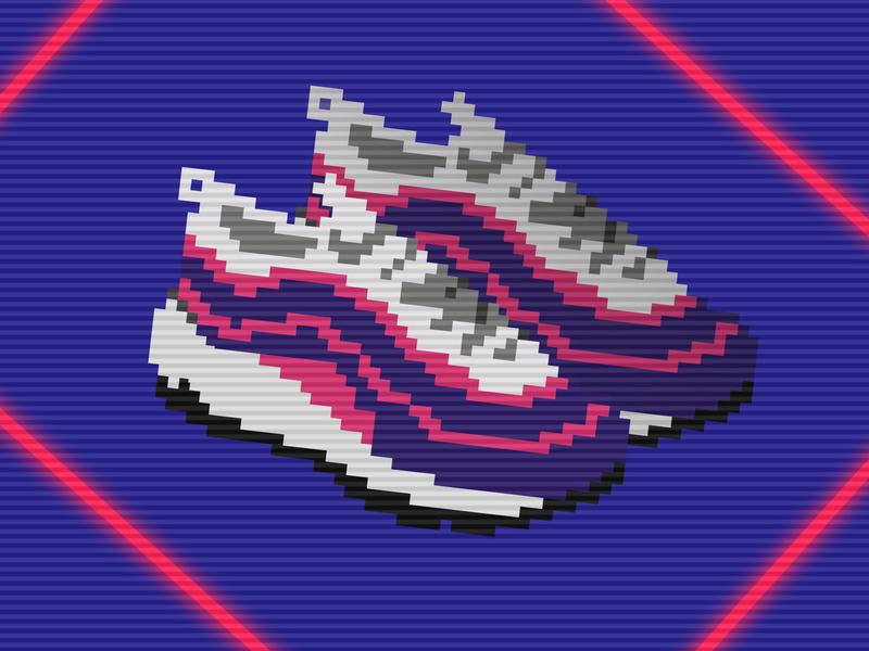 Pixelised Sneakers 2 By Anne On Dribbble