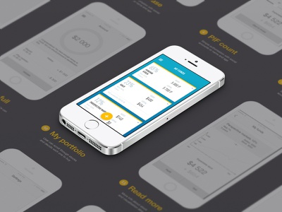 Workflow account cards interface ios ui app