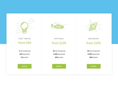 Price table landing payment interface user ux ui plan pricing design web table price