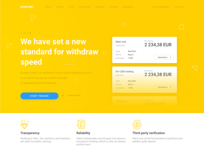 Homepage ux interface landing design ui web