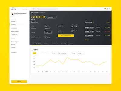 Personal Area ux  ui ux design ux dashboard design interface ui web