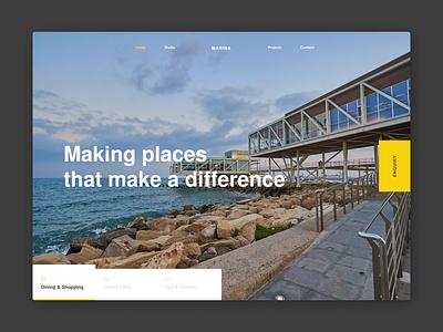 Marina property architechture architect ux design interface ui web
